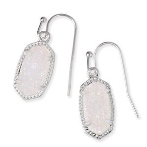 Kendra Scott Lee Earring Silver & iridescent Drusy